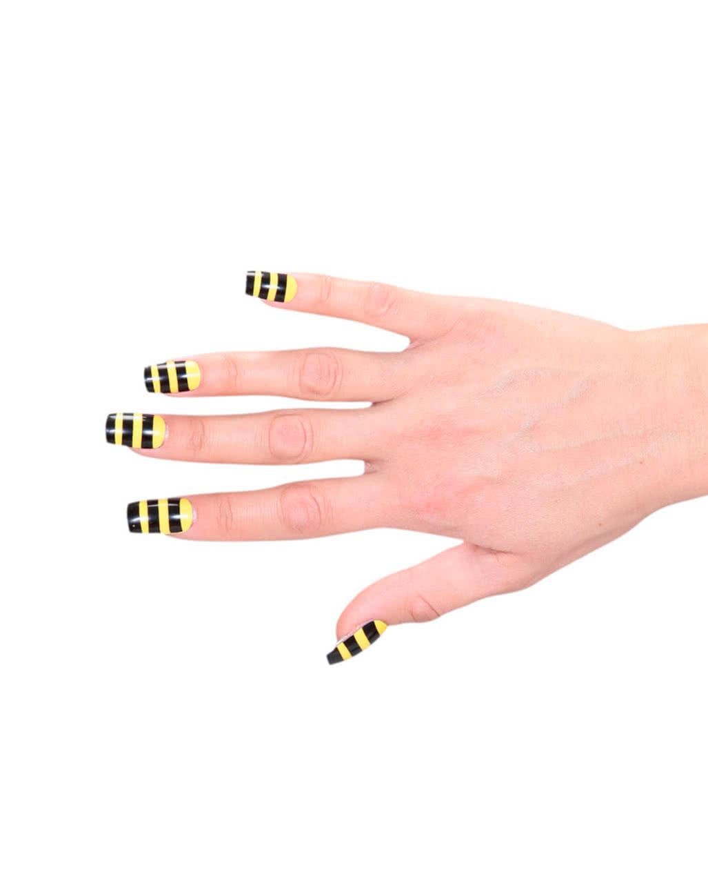 Bienen Fingernägel für Karnevalskostüme | Karneval Universe