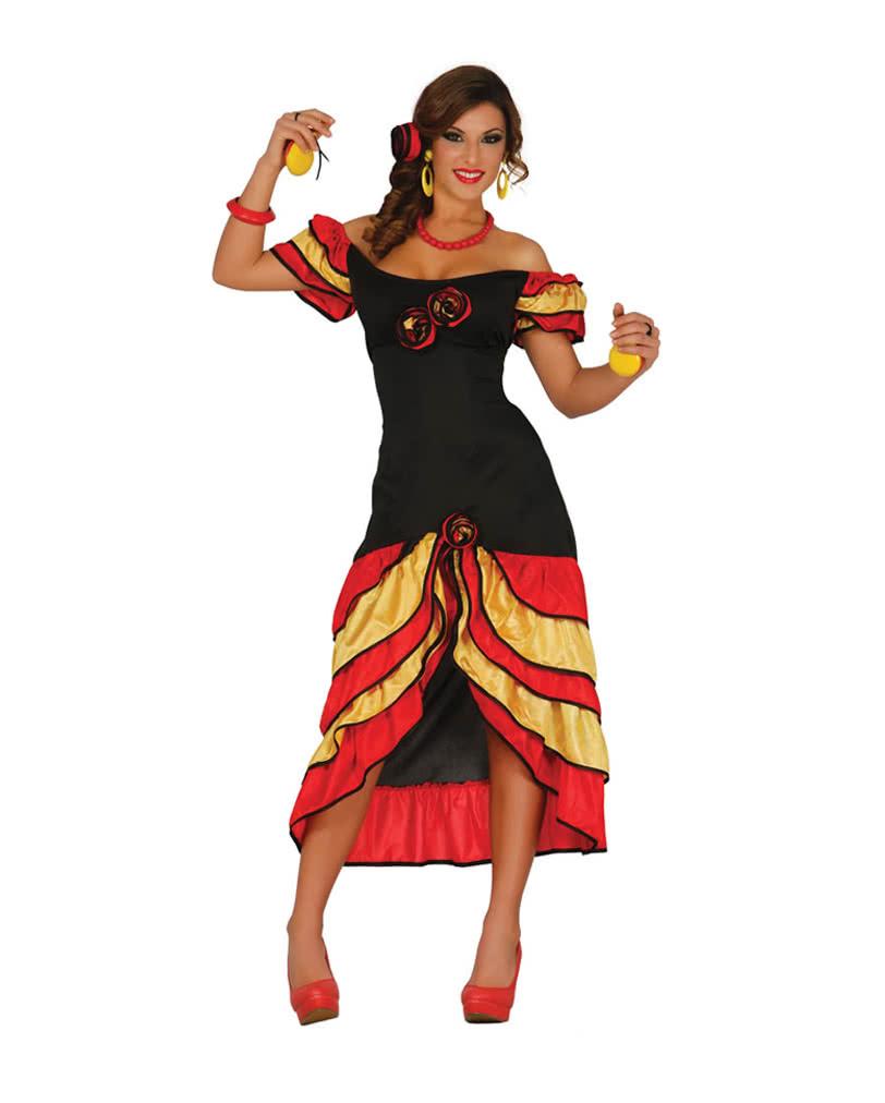 Flamenco Kleid Andalusische Tanzerin Kostum Karneval Universe