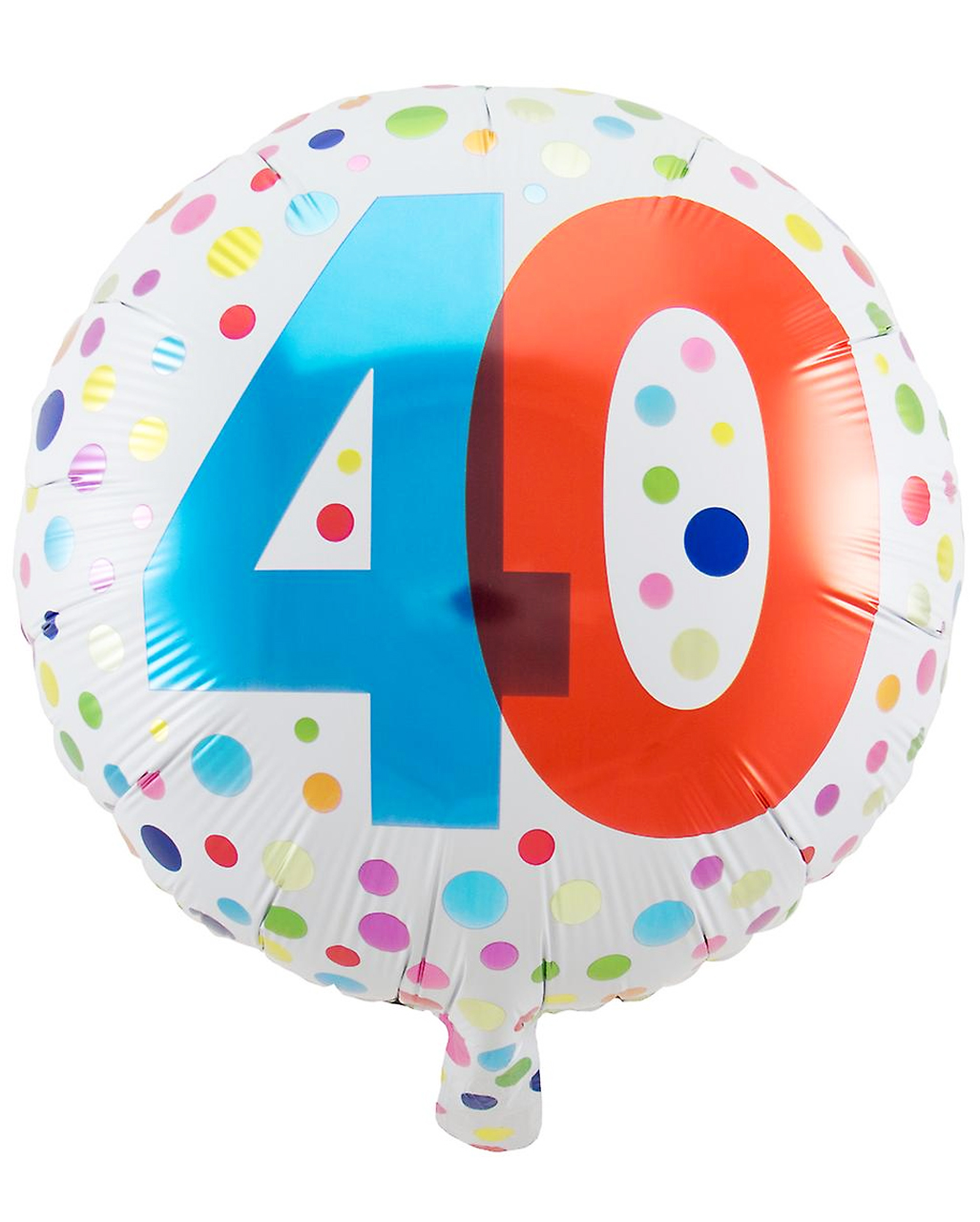 Foil Balloon Confetti 40th Birthday Order