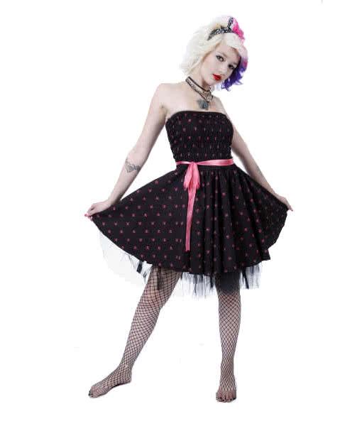 Rockabillykleid Mit Skulls Und Schleife 50er Jahre Kleid Petticoat