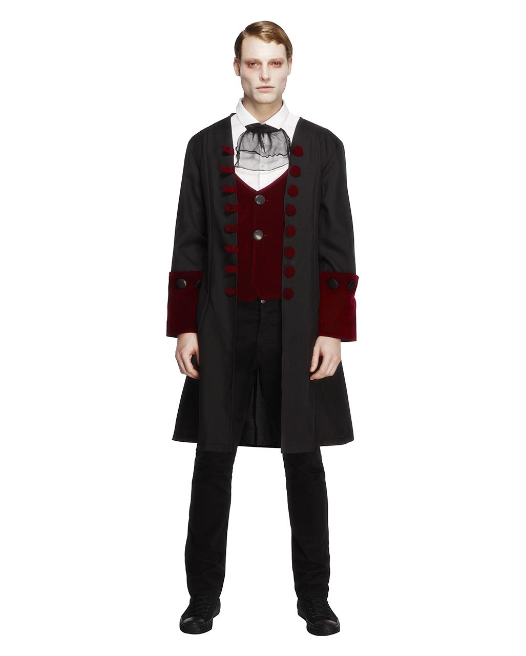 Gothic Vampir Herren Kostüm | Viktorianischer Gehrock mit Weste und ...