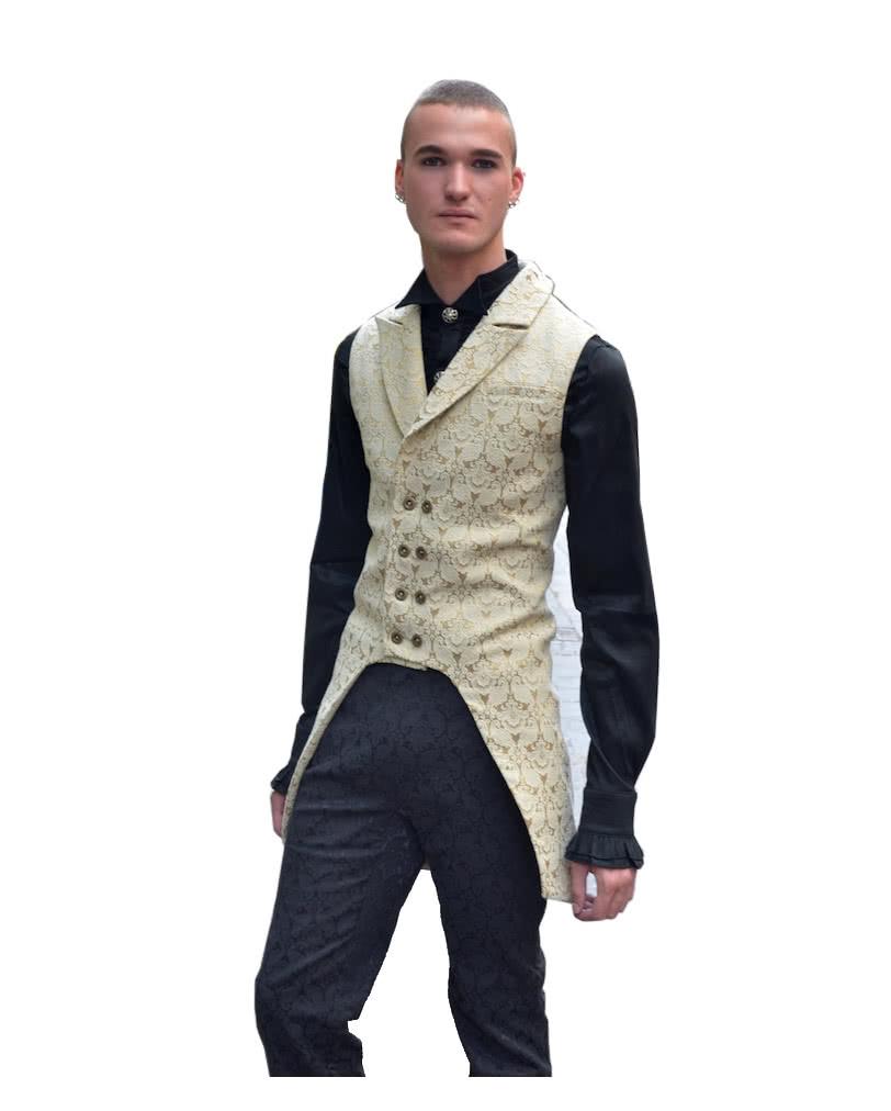 Brokat Männer Weste beige | Viktorianische Kleidung online kaufen ...