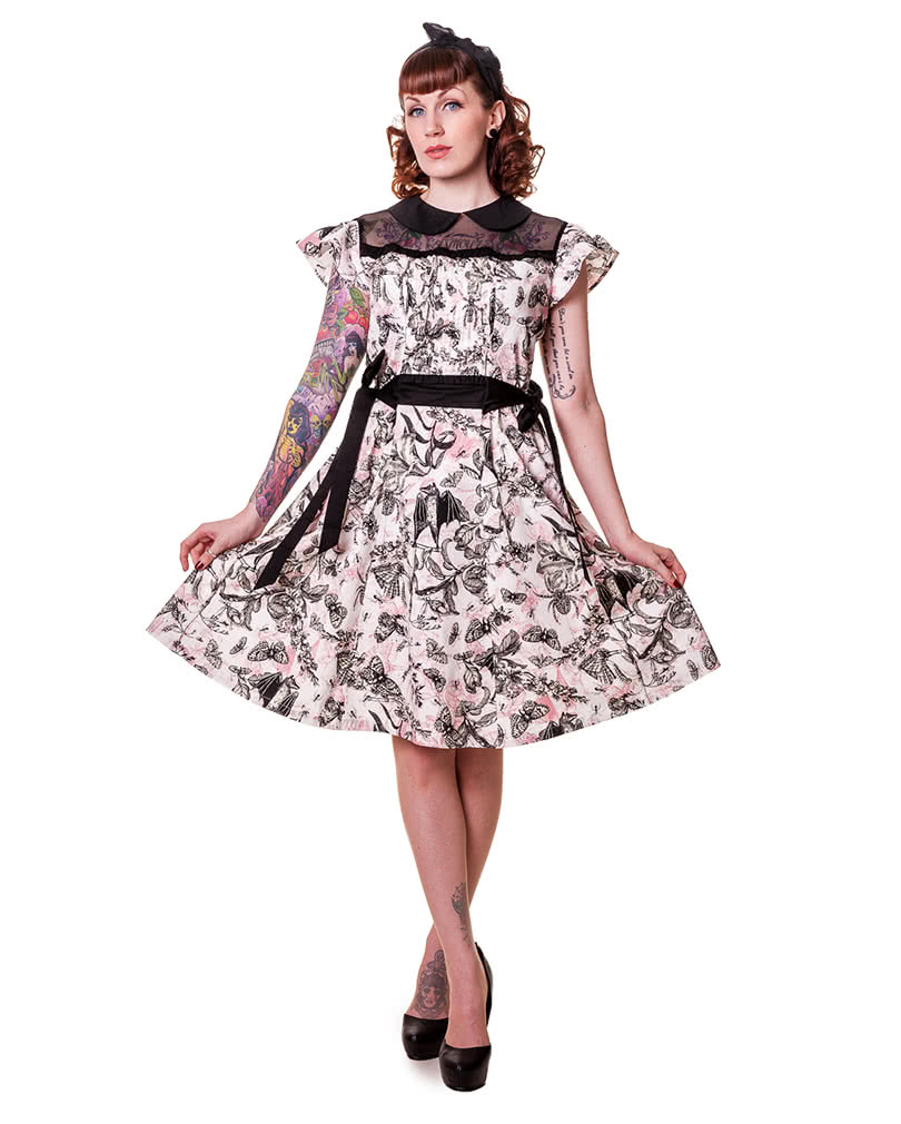 Rockabilly Kleid Schmetterling Rockabilly Kleid Gothic Kleid