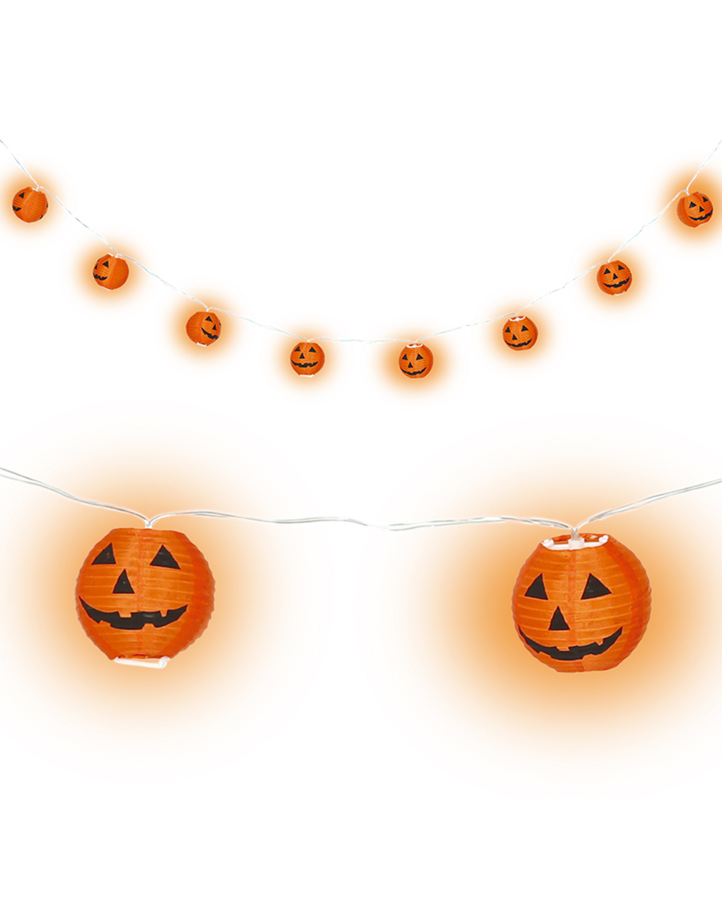 Halloween Pumpkin Lampion LED Garland 220cm ☆ | - Karneval Universe
