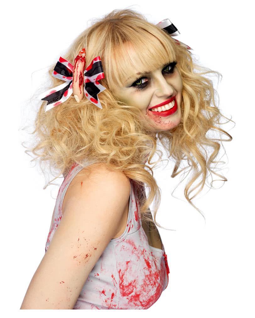 bloody finger barrettes as halloween hair accessories | - karneval