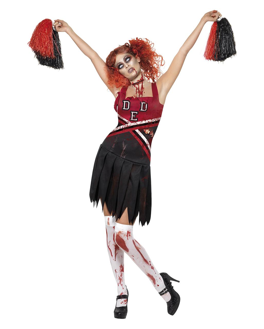 Zombie Cheerleader Kostum High School Uniform Schule Karneval