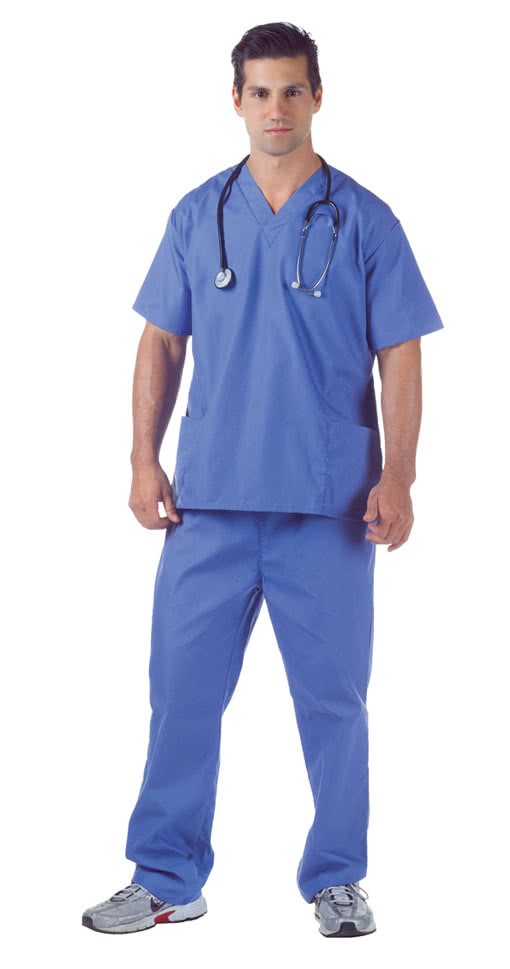 Hospital Scrubs XXL | Blauer Krankenhaus Kittel als Kostüm ...