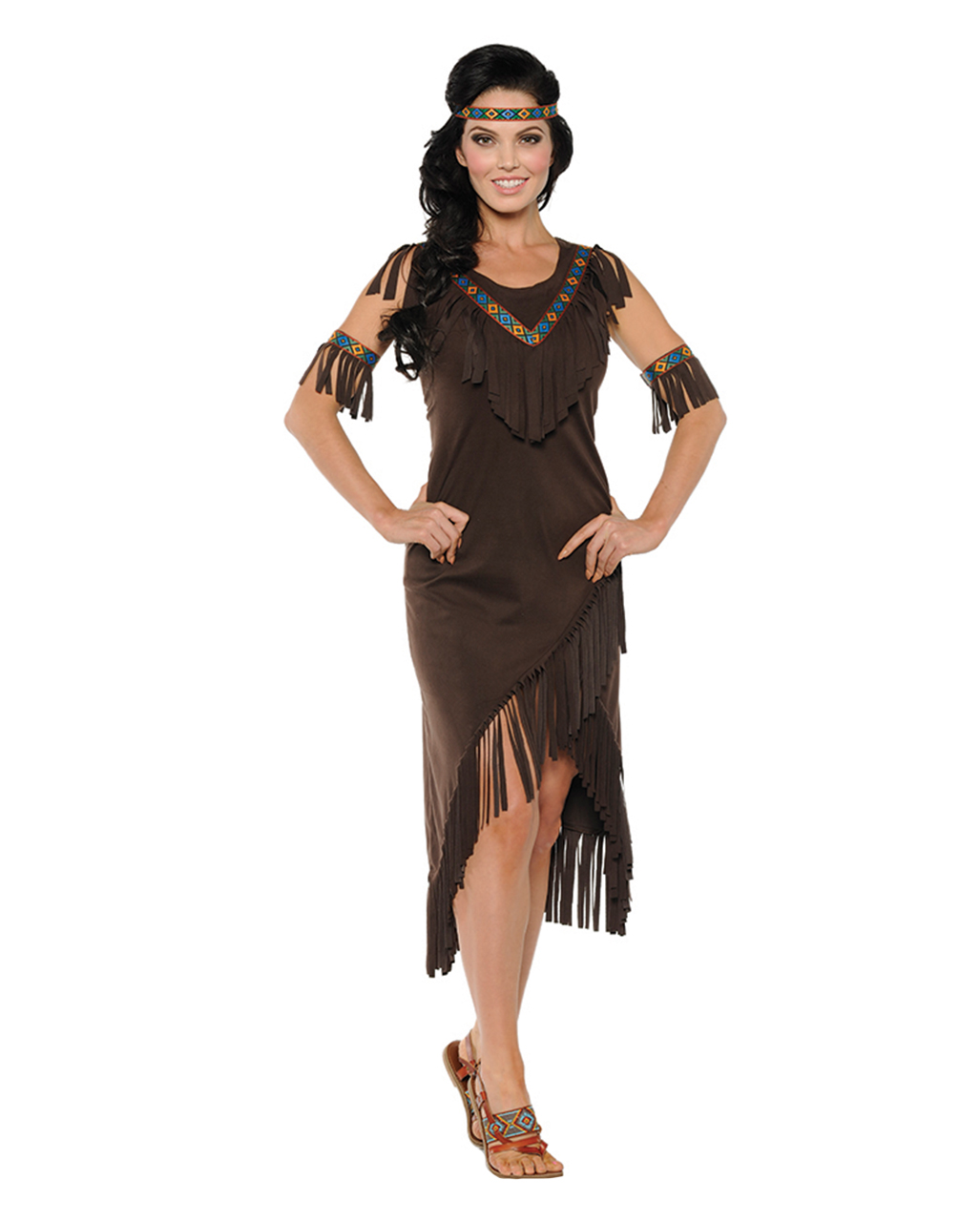 Spirit Indianerin Squaw Kleid | für Western Party | Karneval Universe