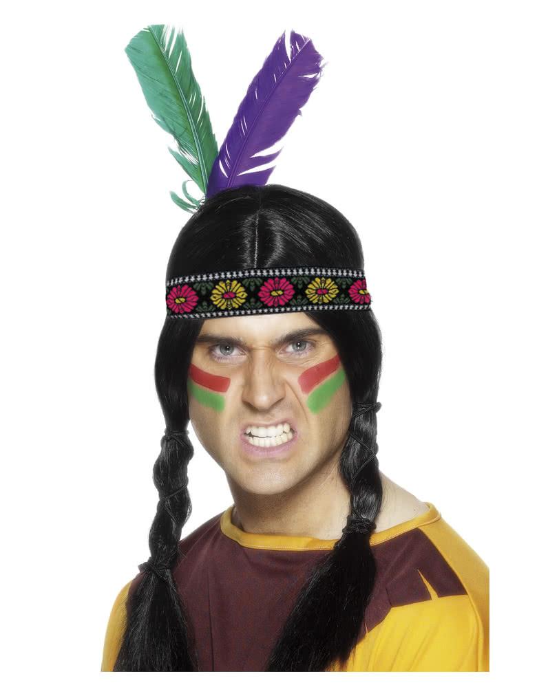 Indianer Kopfschmuck Mit 2 Federn Fur Die Faschingsparty