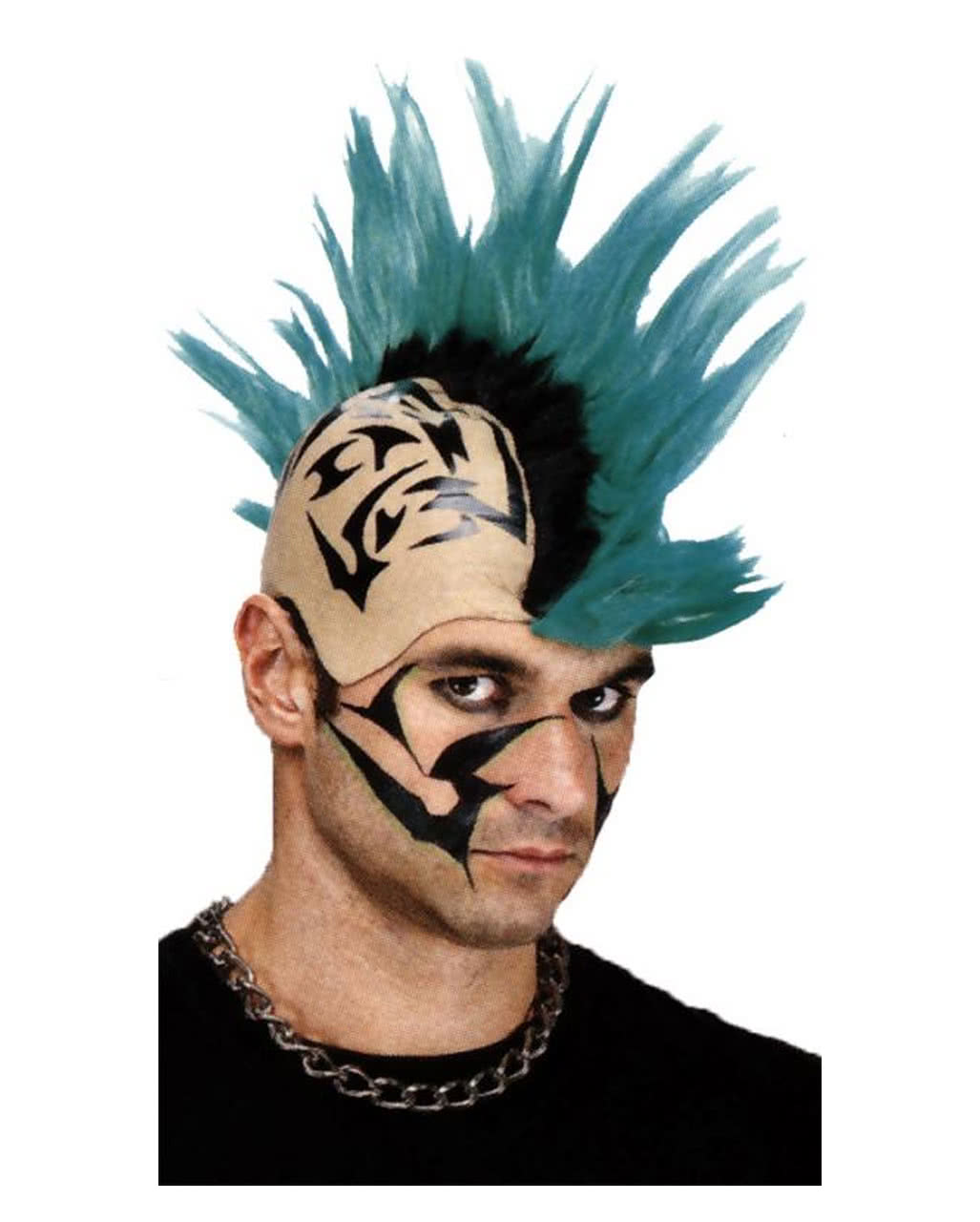 Mohawk Punk Perucke Grun Als Faschingsperucke Karneval Universe
