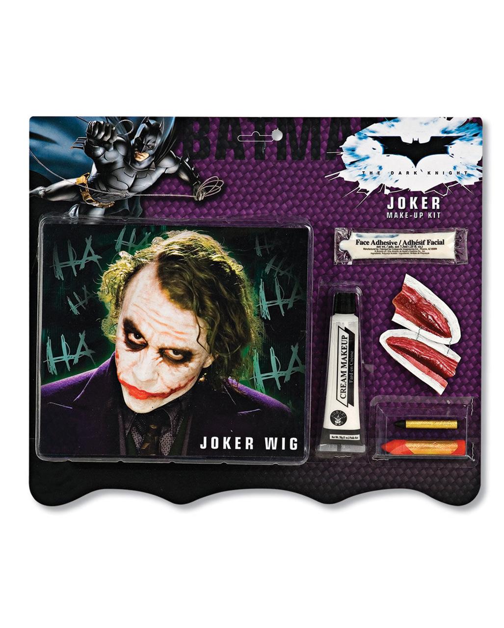 7 Tlg Joker Make Up Set Mit Perucke Batman S Feind Kit Karneval