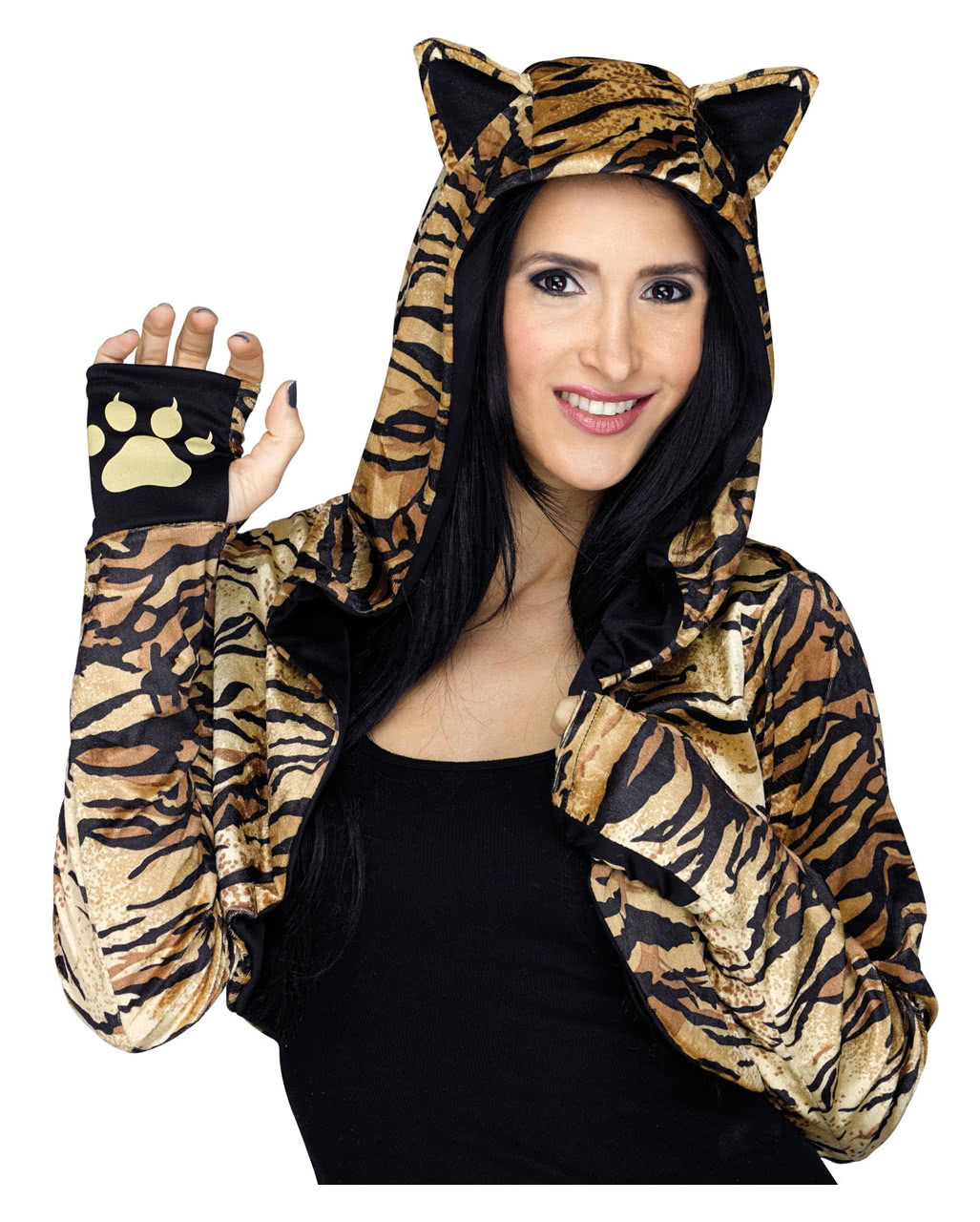 Hooded Stole With Tiger Pattern For Halloween Karneval Universe