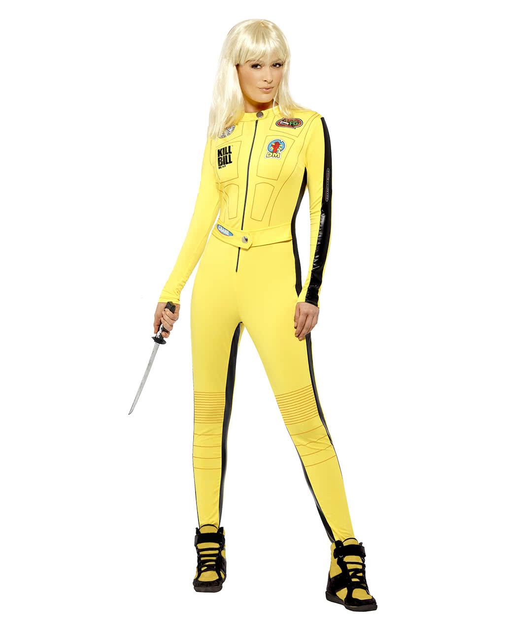 Kill Bill Ladies Costume Licensed Kill Bill Jumpsuit Karneval