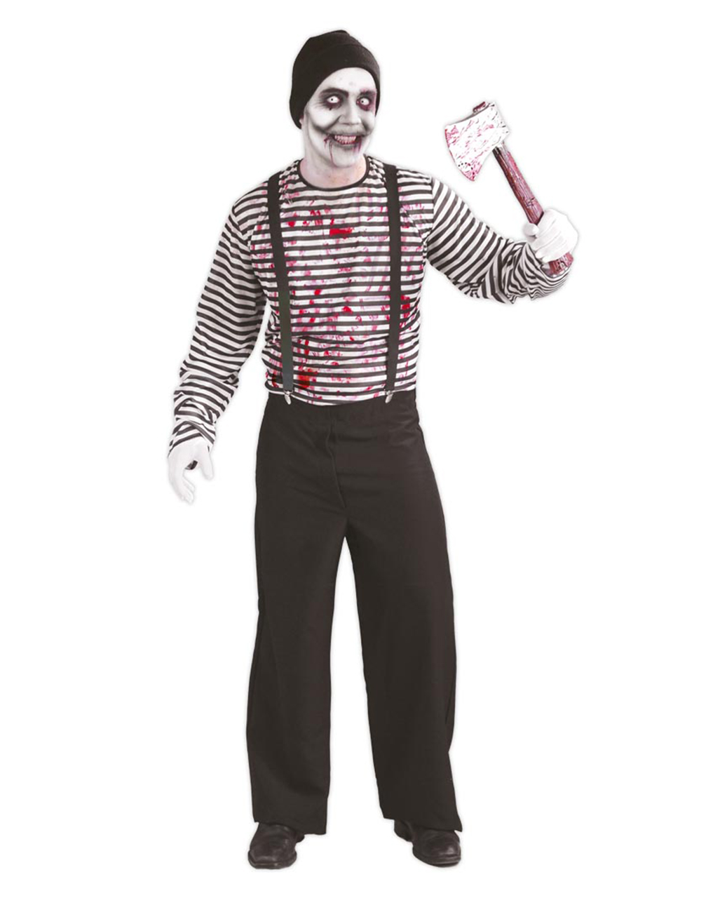 killer mime costume crazy street performers lining karneval