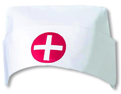 Weiße Krankenschwester Haube mit Kreuz -Krankenschwester Accessoires ...