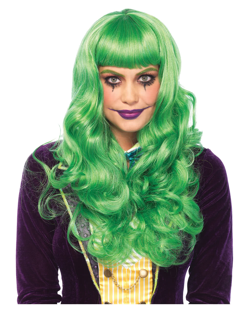 Grune Joker Damenperucke Fur Fasching Karneval Universe