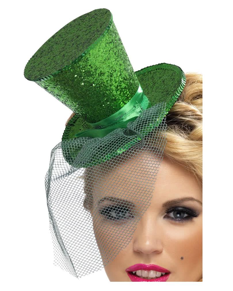 Mini Hut Grun Mit Tull St Patricks Day Mini Zylinder Karneval