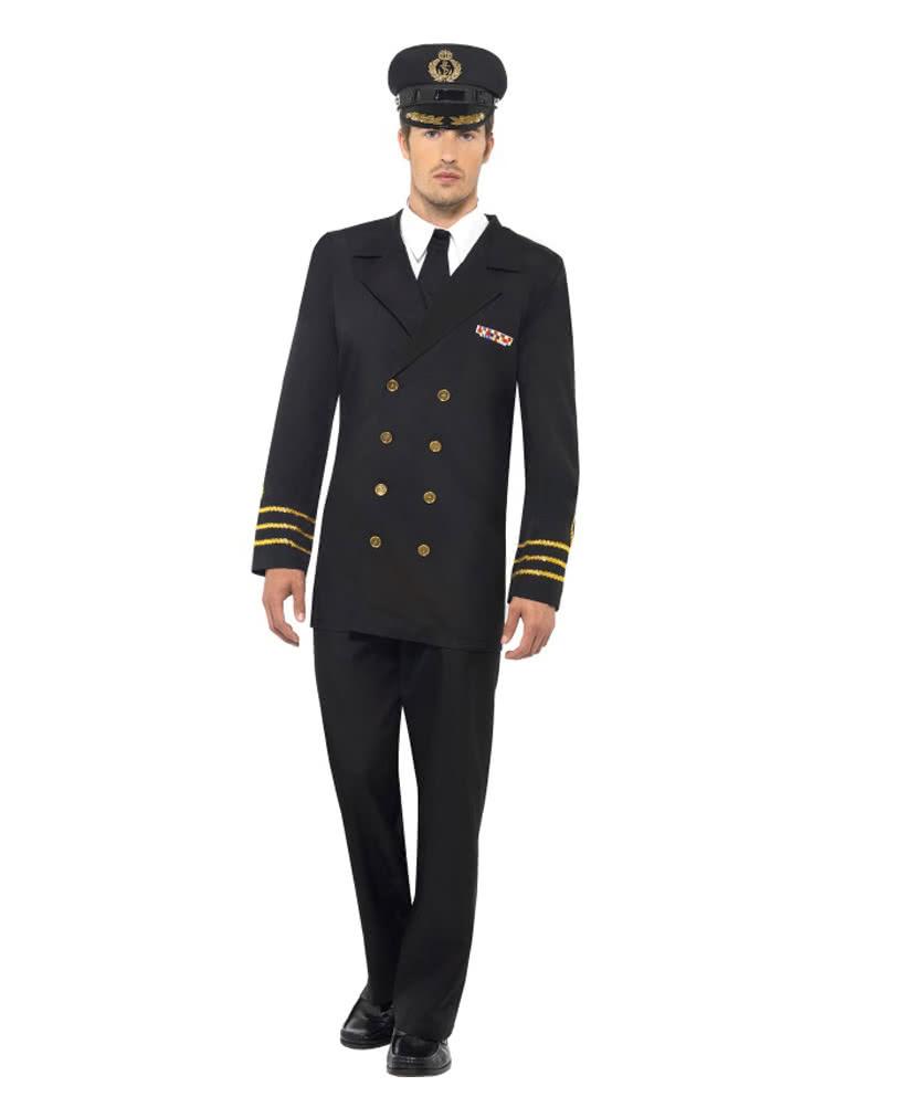 Us Marineoffizier Herren Kostum Schwarze Militaruniform Fur Herren