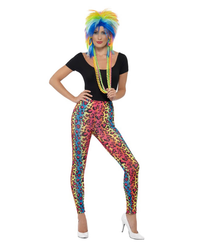 Neon Leopard Leggings Button For Shrill Bad Outfits Karneval