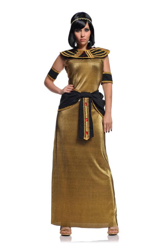 Cleopatra Kostum Aus Lurex Goldenes Nil Konigin Kostum Karneval