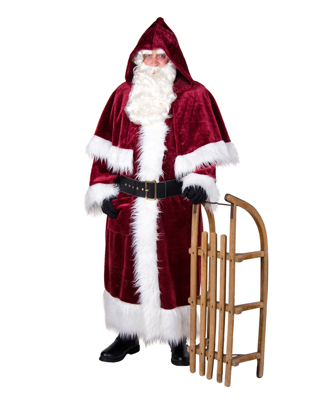 Weihnachtsmann mantel lila