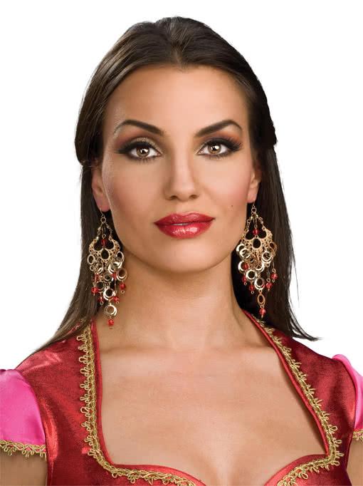 Oriantalische Ohrringe Bollywood Anhanger Fur Die Ohren Karneval
