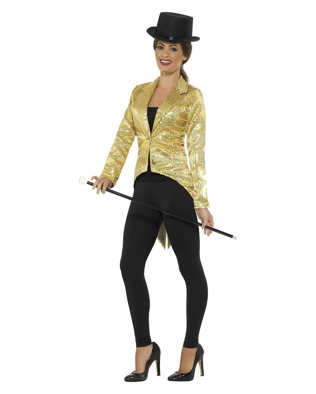 Goldene Frauen Pailletten Jacke Fur Fasching Karneval Universe
