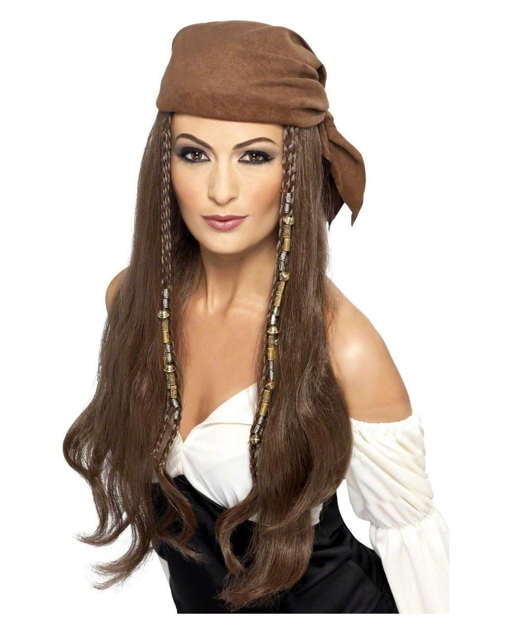 Piraten Frau Perucke Mit Kopftuch Fur Karneval Karneval Universe