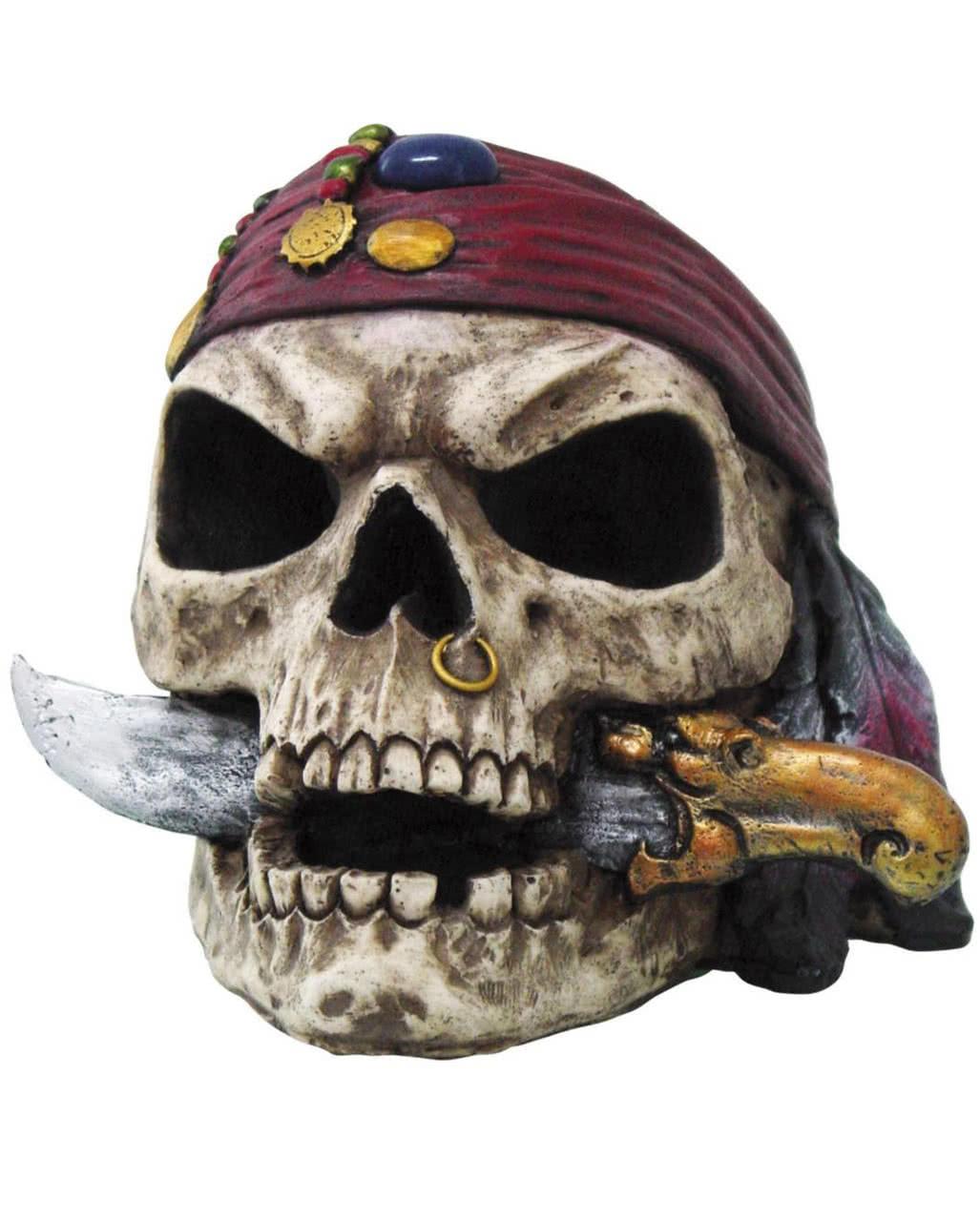 Maske Skull Pirate Kinder Totenkopf Freibeuter Accessoire Karneval