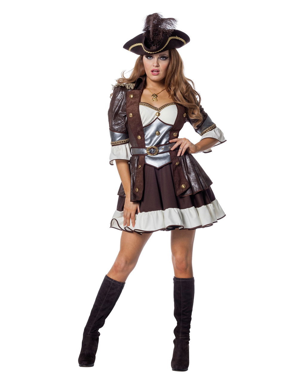 Pirate Anne Ladies Costume Deluxe For Carnival Karneval Universe