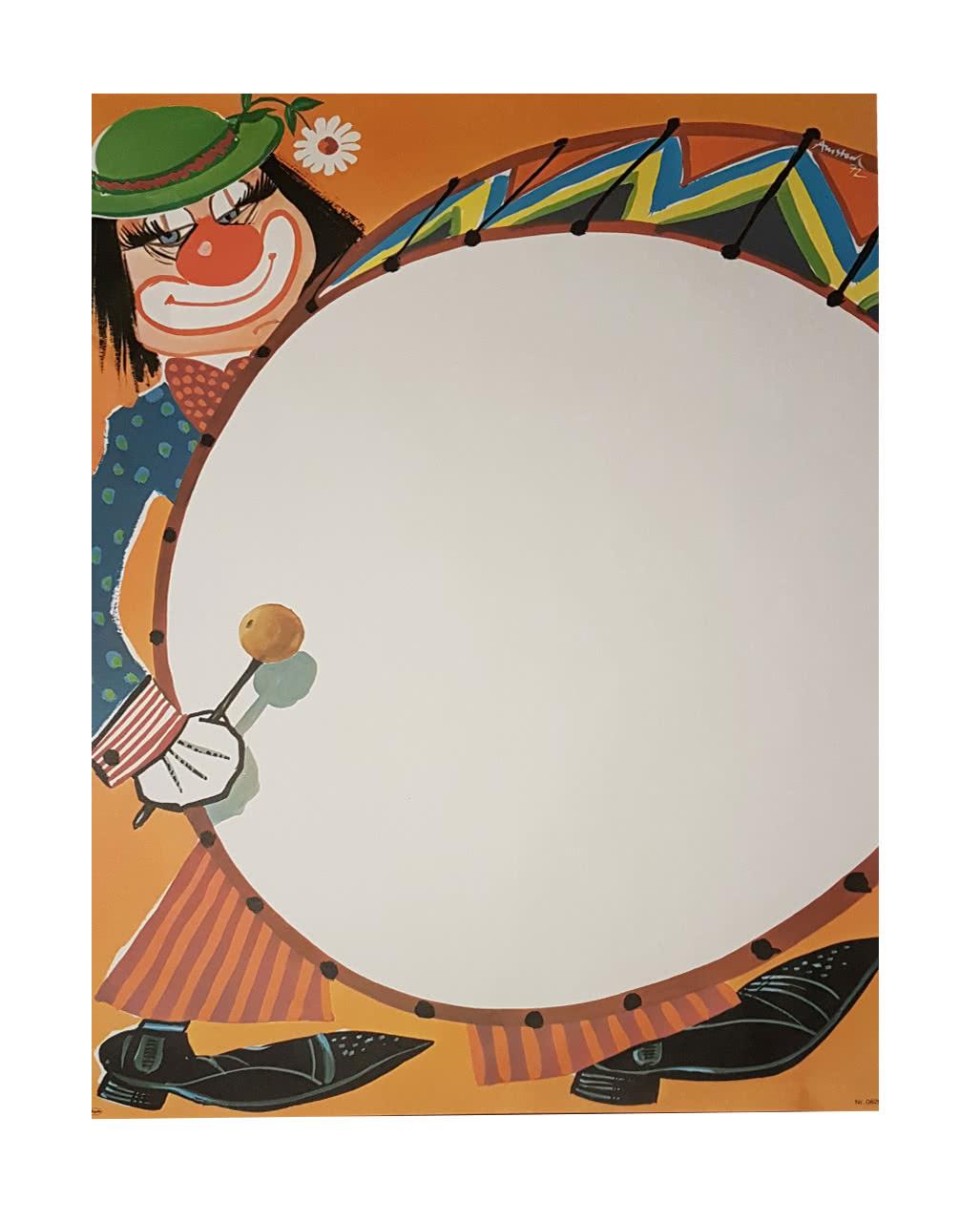 Faschingsplakate Clown Trommel 6 St 70 X 50 Cm Karneval Universe