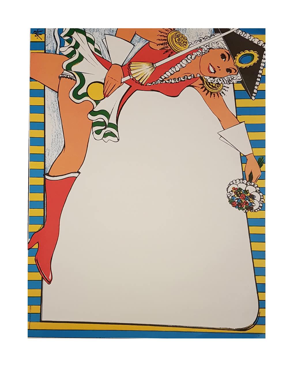 Faschingsplakate Funkemariechen 6 St 59 X 42 Cm Karneval Universe