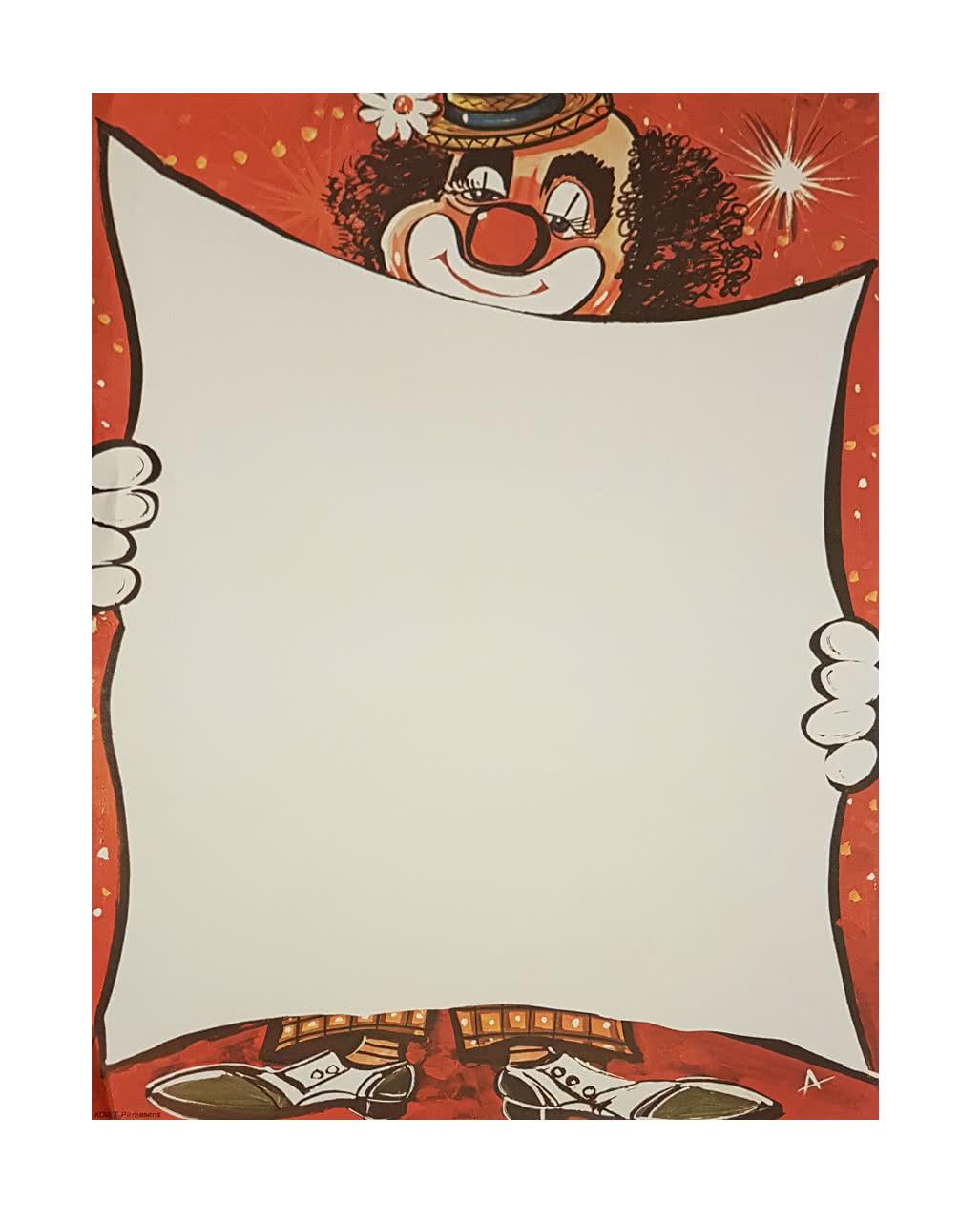 Faschingsplakate Lachender Clown 6 St 59 X 42 Cm Karneval Universe