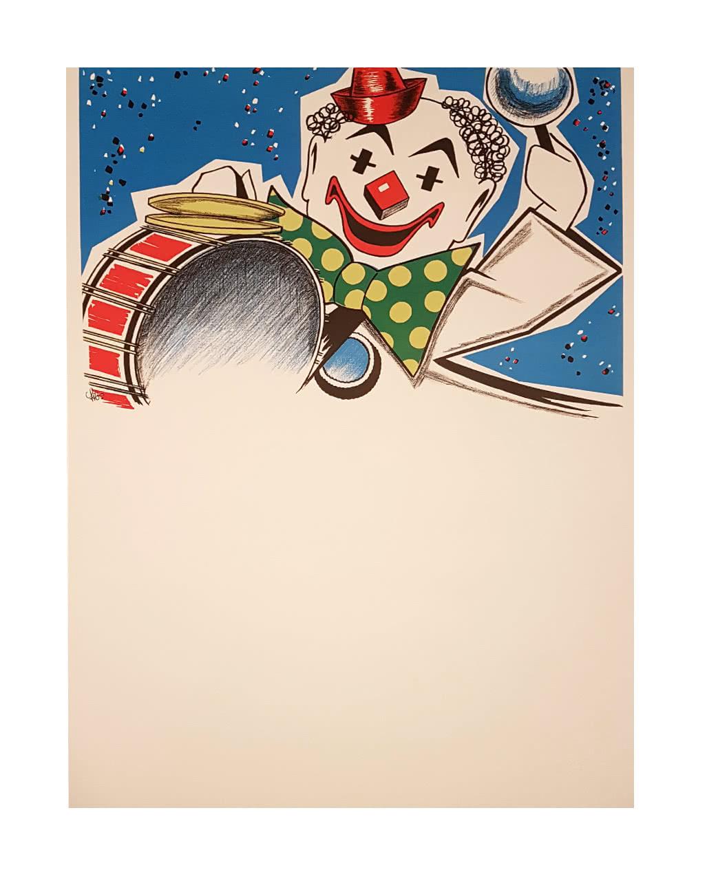 Faschingsplakate Partyclown 6er Pack 59 X 42 Cm Karneval Universe