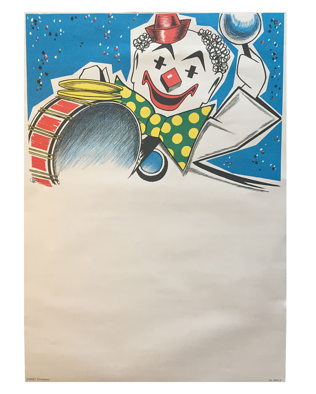 Faschingsplakate Clown 6er Pack 59 X 42 Cm Karneval Universe