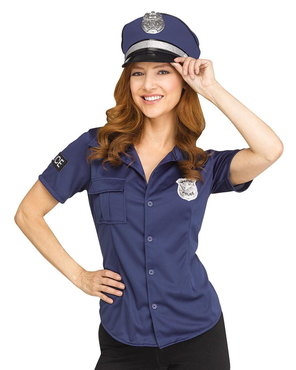 Polizei Kostum Shirt Fur Frauen Als Accessoire Karneval Universe