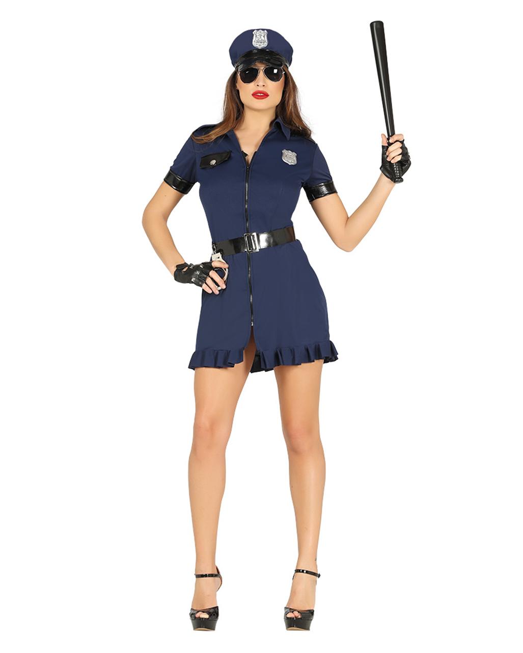 Schwarz Blaues Polizistin Kostum Bestellen Karneval Universe
