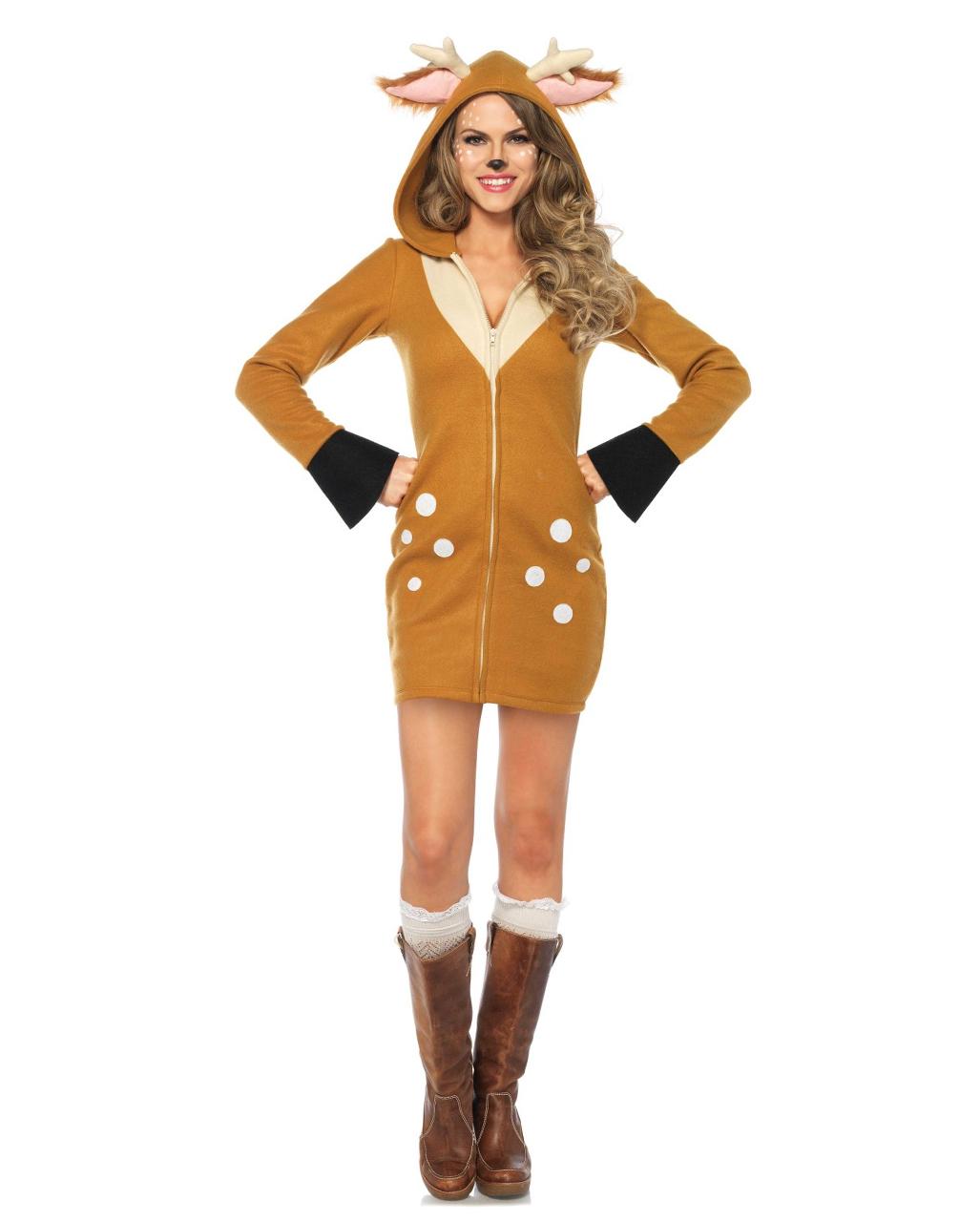 Bambi Reh Kostum Fur Damen Fur Fasching Karneval Universe