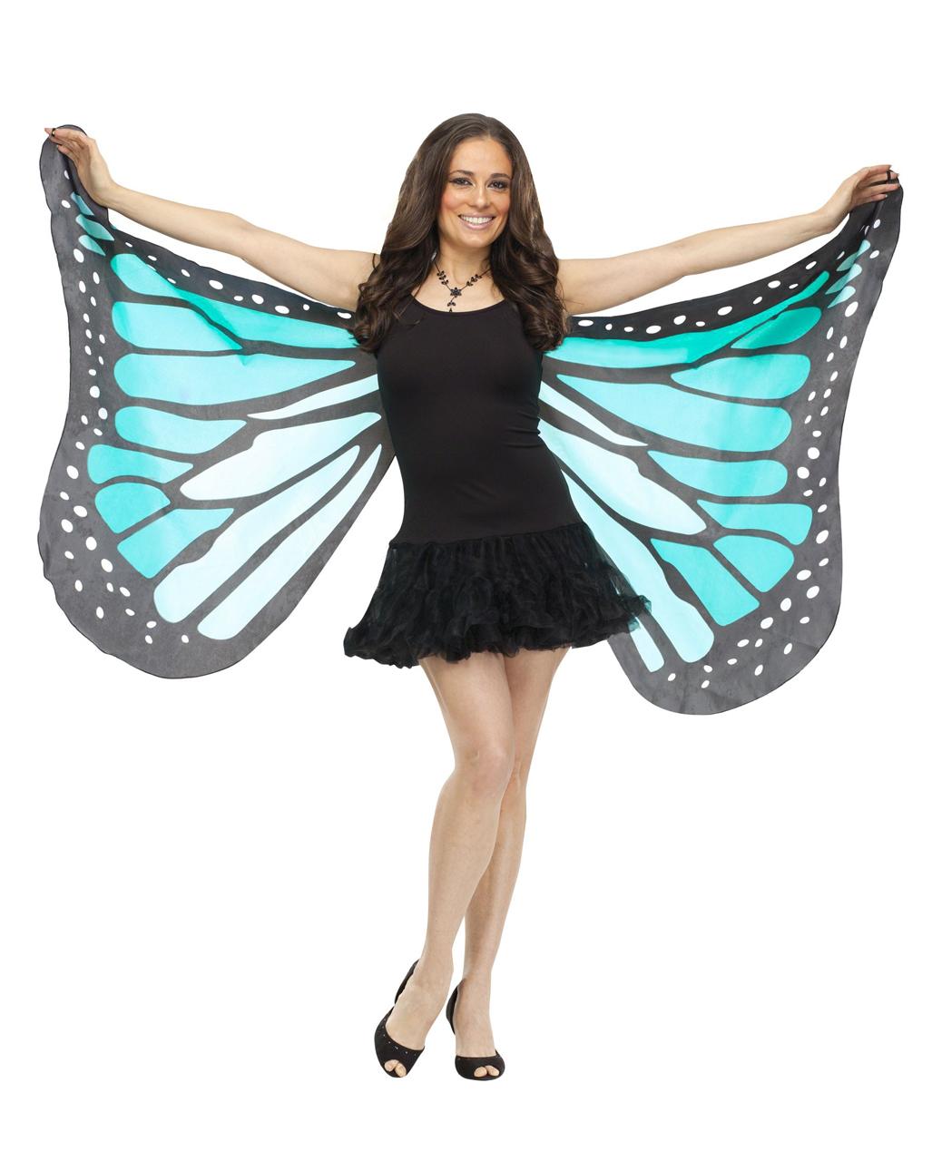Blaue Schmetterlingsflugel Xxl Blaue Stoffflugel Als Kostum