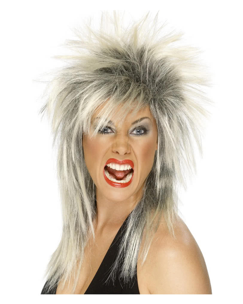 Perucke Fur Rockrohren Kostumaccessoire Im 80er Look Karneval