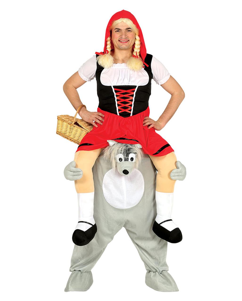 Carry Me Kostum Rotkappchen Auf Wolf Kaufen Karneval Universe