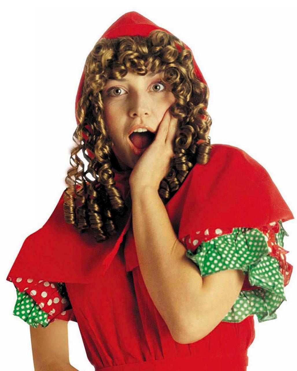 Rotkappchen Perucke Mit Kapuze Marchen Kostume Kaufen Karneval