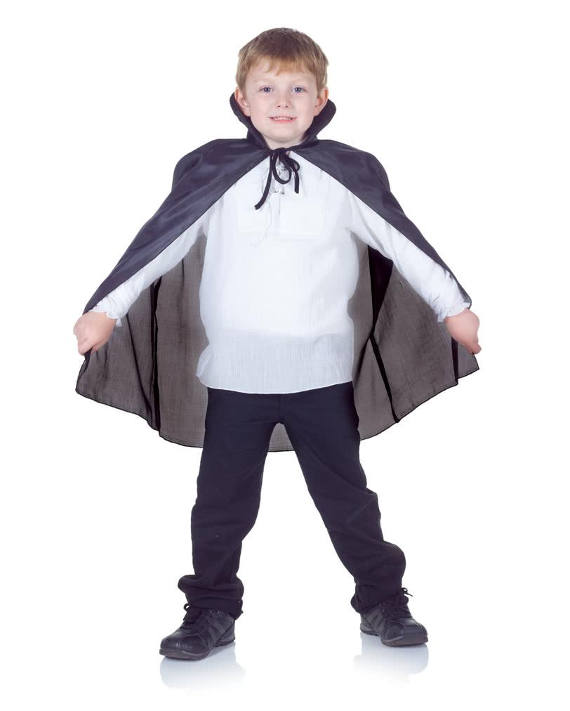 Schwarzer Vampir Umhang Fur Kinder Dracula Umhang Fur Kinder