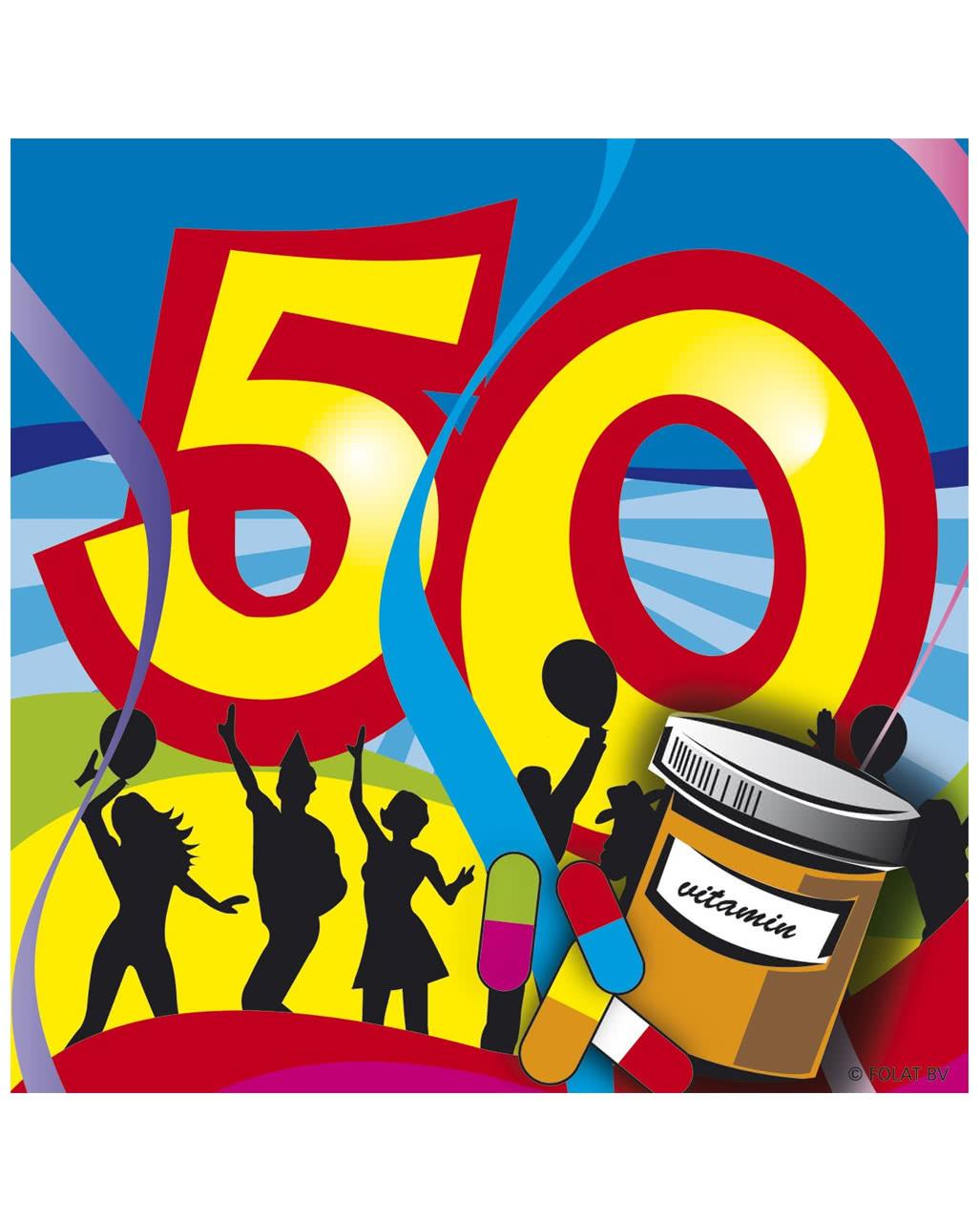 50 Geburtstag Servietten Swirls Ordern Karneval Universe