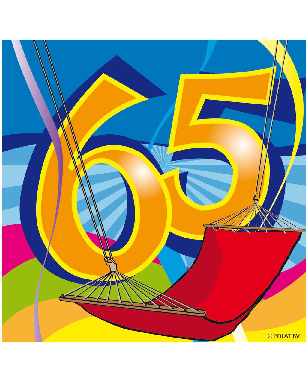 65 Geburtstag Servietten Swirls Kaufen Karneval Universe