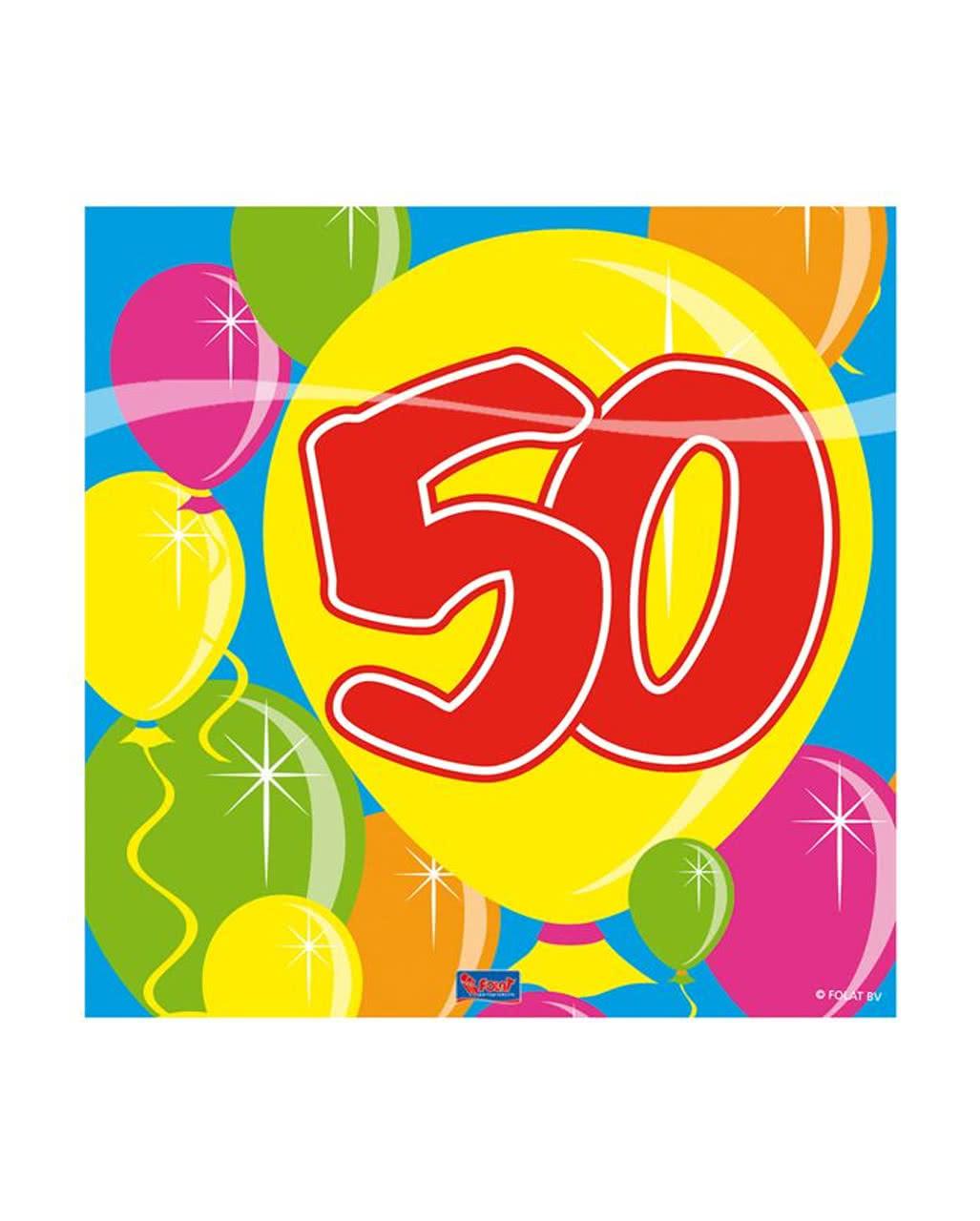 50 Geburtstag Servietten Party Deko Karneval Universe