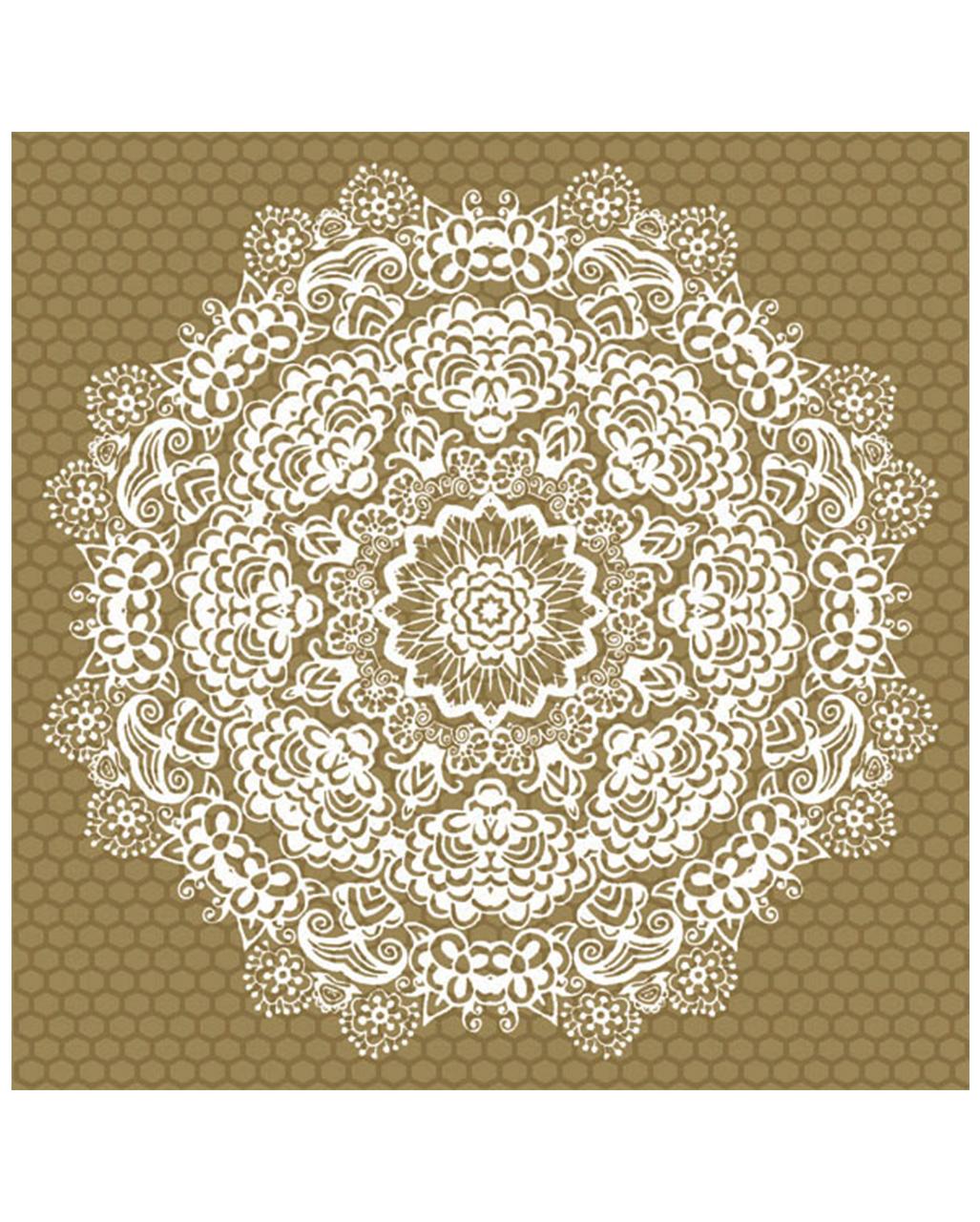 20 Servietten mit Mandala-Blume online kaufen   Karneval Universe
