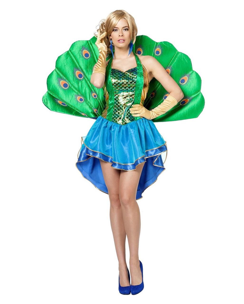 Sexy Pfau Kostum Damen Fur Karneval Karneval Universe