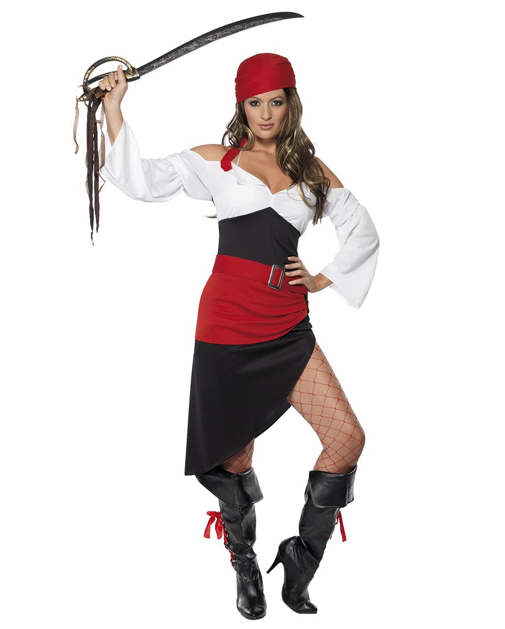 Freibeuterin Kostum Fur Damen Heisses Piratin Damenkostum