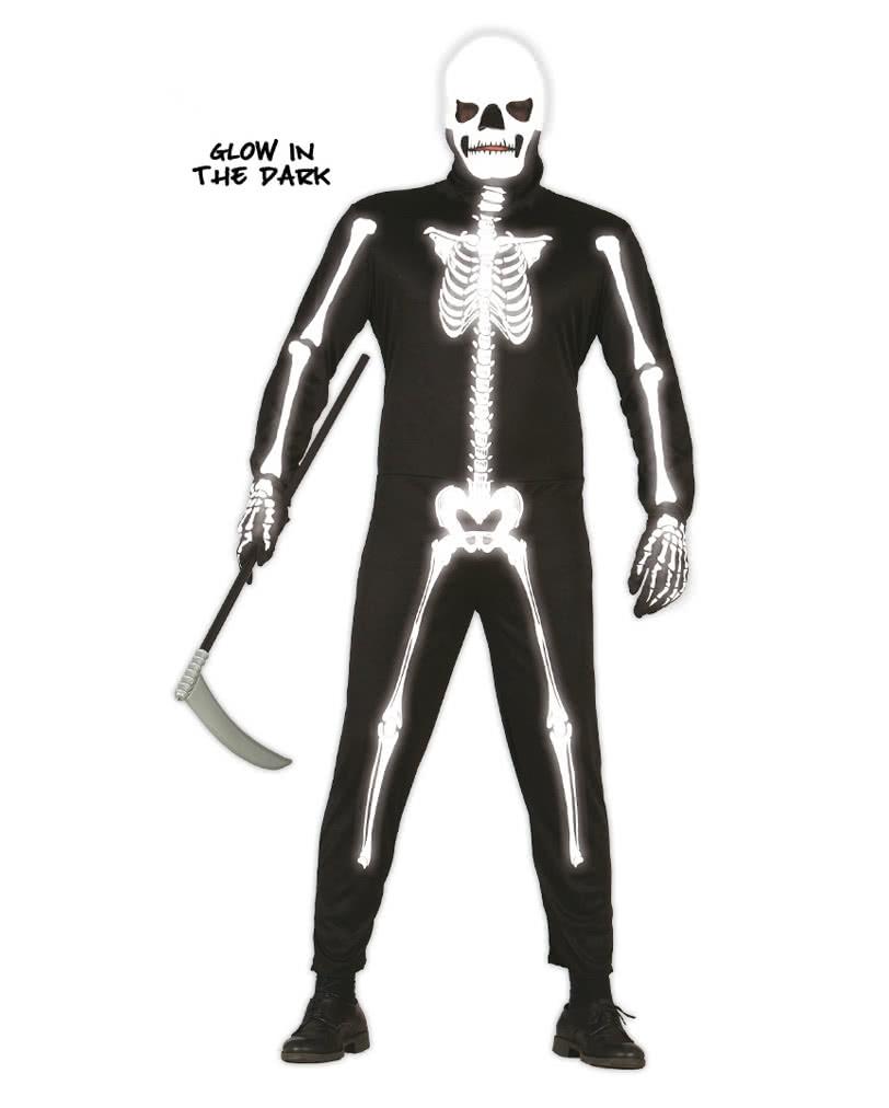 Skelett Anzug Glow in the Dark | Leuchtendes Skelett Kostüm ...